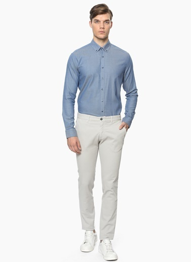 George Hogg Slim Fit Pantolon Taş